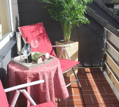 Balkon im Zimmer der Pension Witten Höhen in Cuxhaven