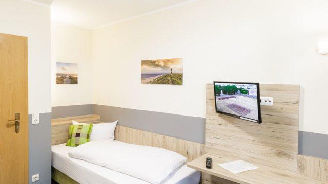 Einzelzimmer mit einzelnem Bett