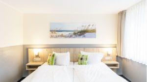 gemütliches Doppelbett im Gästehaus Alexandra