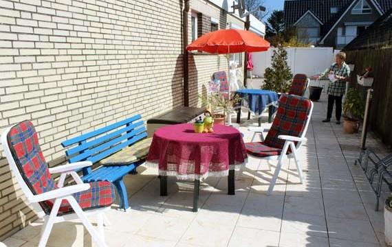 Terrasse für die Gäste