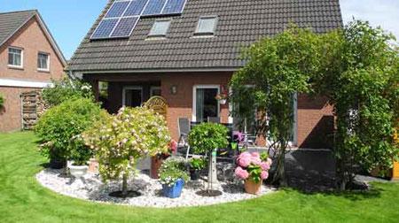 der Garten im Gästehaus Braam in Cuxhaven