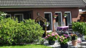 die Terrasse im Gästehaus Braam in Cuxhaven Zentrum